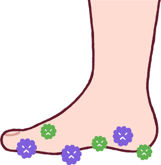 Feet with germs