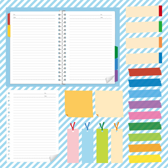 Set of binder and sticky note · master