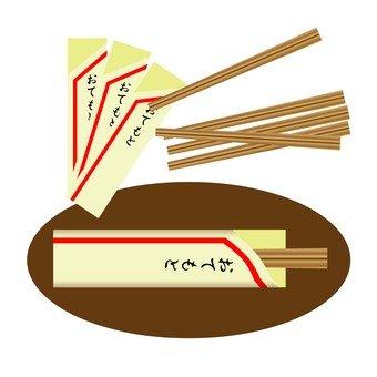 Packing disposable chopsticks