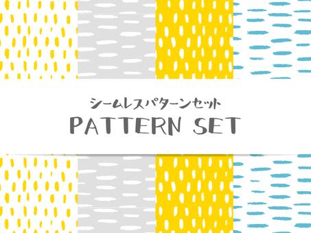 배경 원활한 패턴 세트