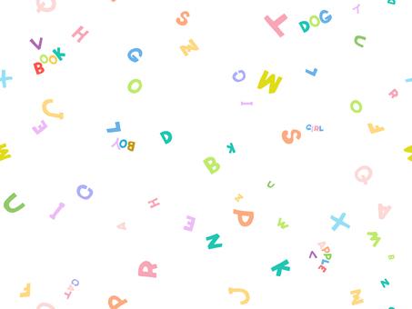 カラフルパターン-アルファベット1