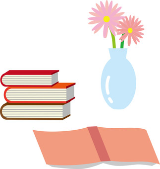 Book and Vase