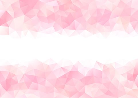 핑크 폴리곤 배경