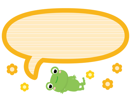 Cut Illustration Frog / Balloon 08