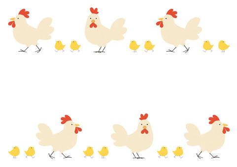 닭과 병아리 프레임