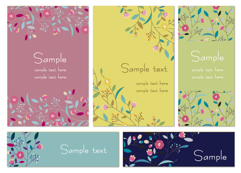 Flower card set 2
