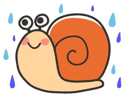 귀여운 달팽이와 비