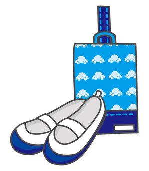 Shoes bag and shoes bag (blue)