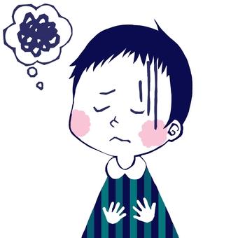 Boy feeling unwell