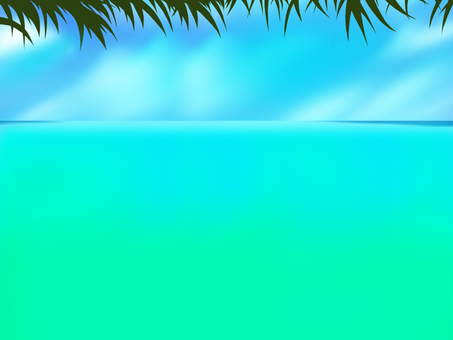 Emerald green sea