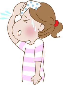 Sweat wiping girl