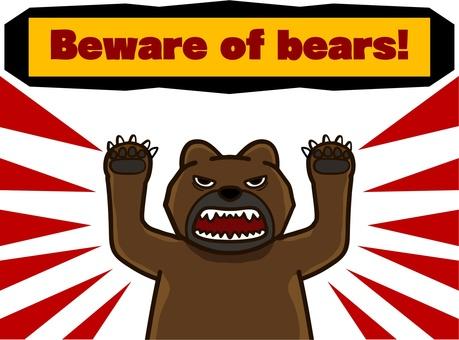 Beware of bear infestation! (English notation)