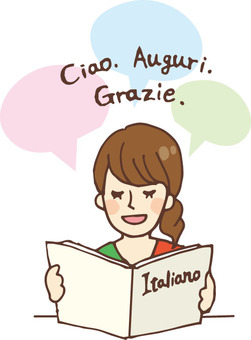 People who read books (Language / Italian)