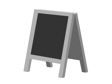 Signboard (monochrome / black board)