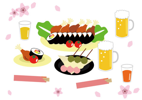 Ohanami lunch box set