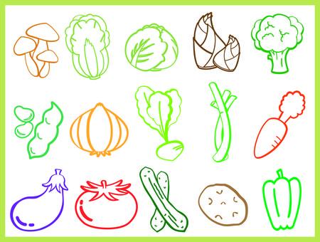 Illustration of vegetables①