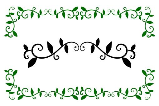 Frame grass pattern