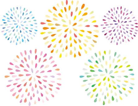 Fireworks handwriting set 02
