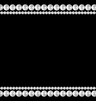 Pearl frame black background