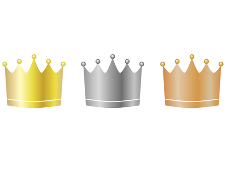 Crown, gold, silver and copper