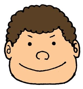 A curly hair man