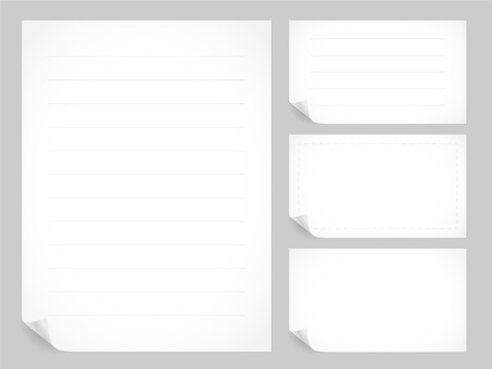 Simple white paper material