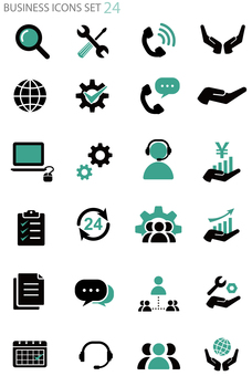 Business icon set [Support]