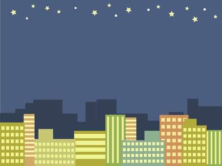 도시의 밤하늘 프레임