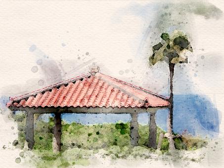 [Watercolor] Taya by the sea