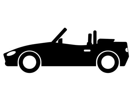 Car open car silhouette