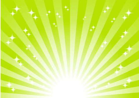 Green radial glitter background material