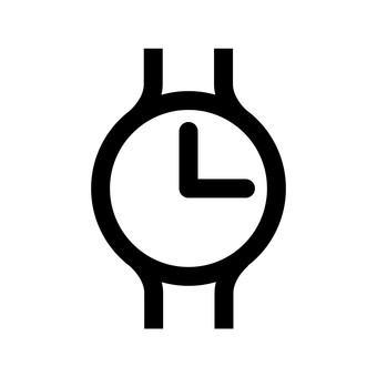 Illustration icon of a watch