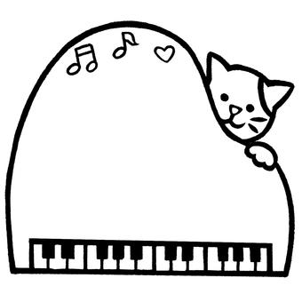 猫钢琴音符