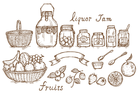 Fruit jam liqueur