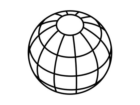 Globe white background icon