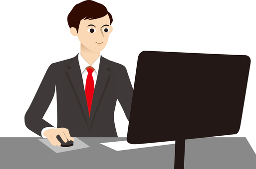 Male PC personal computer work