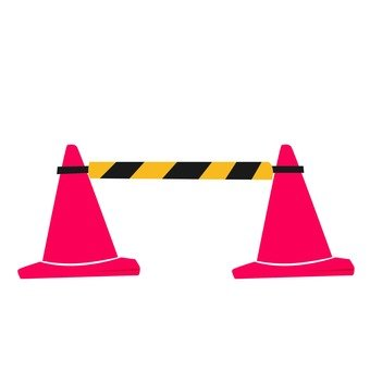 Triangular cone and cone bar