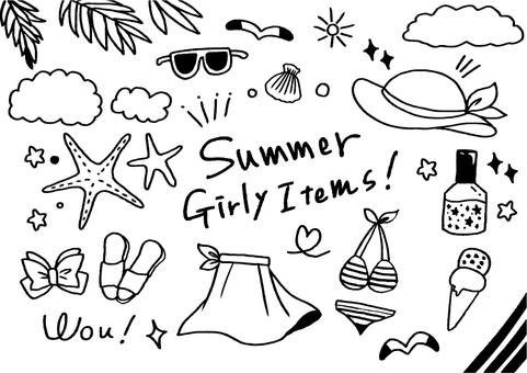 Hand-painted summer items