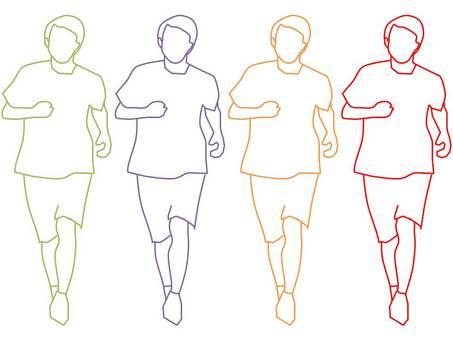 Running man (front) 2