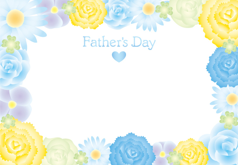 Father's Day Flower Frame