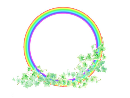 Rainbow ring and Ivy ★ 0064-N