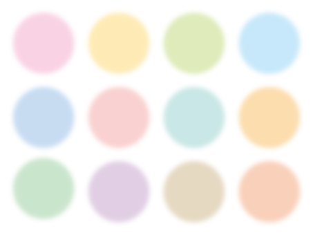 Fluffy round frame of pastel colors