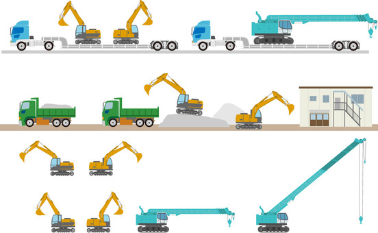 Construction vehicle summary set