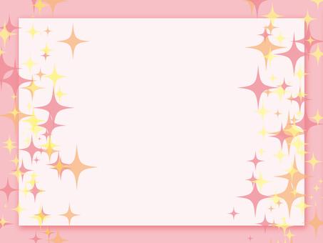 Glittering frame pink