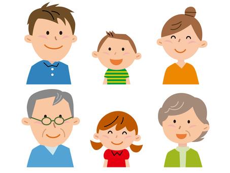 5730. Family, upper body