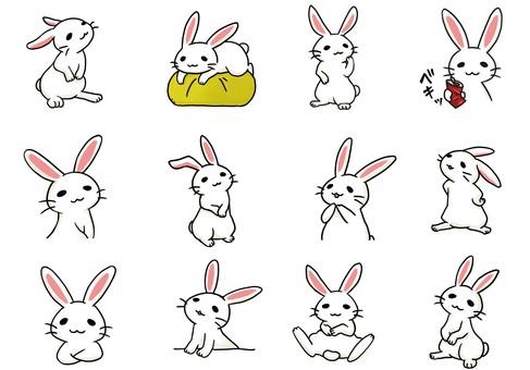 토끼 모듬 4 (수정)