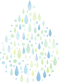 Watercolor style illustration of drops of drops