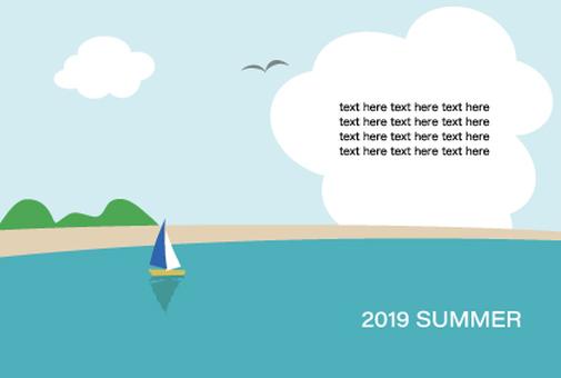 2019 summer greeting card