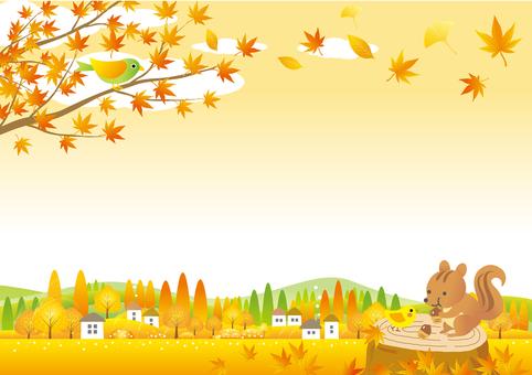 秋色づく季節の風景