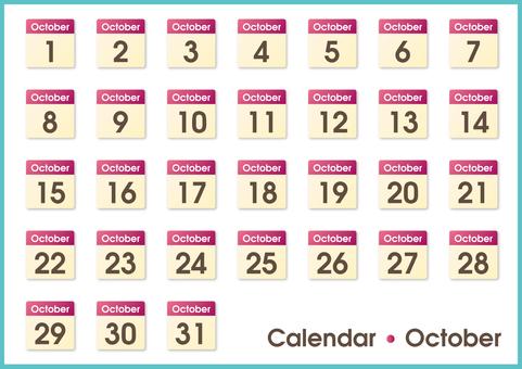 Calendar only October